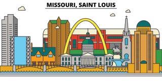 Missouri, Saint Louis. City skyline architecture  Royalty Free Stock Photography
