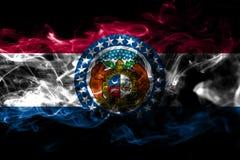 Missouri-Staatsrauchflagge, die Vereinigten Staaten von Amerika lizenzfreie stockbilder