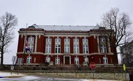 Missouri stanu sądu najwyższy budynek w Spada śniegu zdjęcie royalty free