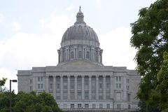 History building Missouri State Capitol in Jefferson MO stock photography