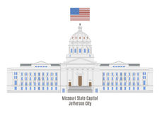 Missouri State Capitol in Jefferson City royalty free illustration