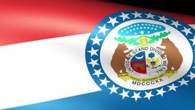 Missouri State Flag Waving stock video footage