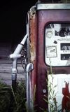 Missouri, United States, circa June 2016 - old rusted Mobil vintage gas pump on route 66 Royalty Free Stock Photos