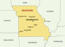 Missouri - vector map Royalty Free Illustration