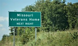 Missouri-Veteran ` s Haus lizenzfreie stockfotos