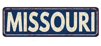 Missouri vintage rusty metal sign Royalty Free Stock Images
