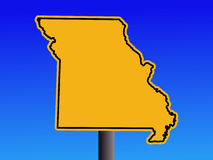 Missouri warning sign Royalty Free Stock Images