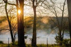 Missouri wiosny wschód słońca Obrazy Royalty Free