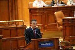Misstrauensvotum P.M. Sorin Grindeanu Lizenzfreies Stockfoto