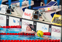 Missy Franklin. BARCELONA - JULY  29:  Missy Franklin in action during Barcelona FINA  World Swimming Championships  on July 29, 2013 in Barcelona, Spain Stock Images