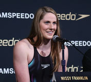 Missy Franklin. NEW YORK-DEC 15: American Olympic swimmer Royalty Free Stock Images