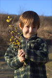 Missy with lefay in spring. Portrait Royalty Free Stock Photos