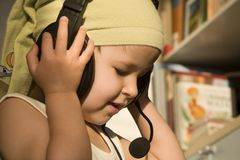 Missy by listen. And earphone Stock Photos