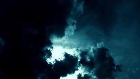 Mistério escuro do lapso de tempo das nuvens video estoque