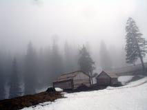 Mist. The Ukrainian mountains - Carpathians Stock Photo