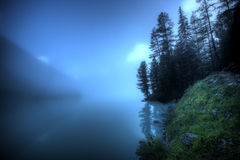 Mist. Fantastic landscape. Shot in a mountain Stock Photography