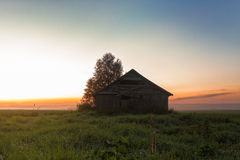 Mist And Barn Houses Stock Photos