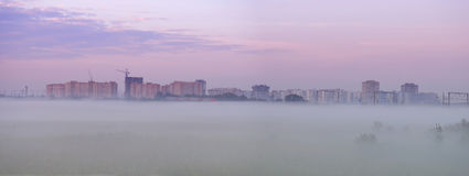 Mist before Bataisk. Rostov region. Russia Stock Photography
