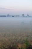 Mist before Bataisk. Rostov region. Russia Stock Photography
