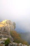 Mist in bergen royalty-vrije stock afbeelding