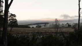 Mist in bergvallei stock video