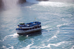 Mist boat at Niagara Falls Stock Photo