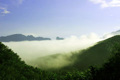 The mist in the clear sky. Royalty Free Stock Photography