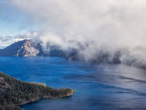 Mist and clouds at Crater Lake Royalty Free Stock Photography