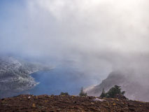Mist and clouds at Crater Lake Royalty Free Stock Photo