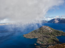 Mist and clouds at Crater Lake Royalty Free Stock Image