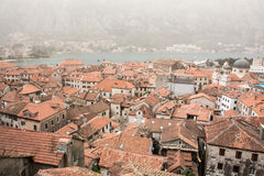 Mist Covered Kotor Royalty Free Stock Photography