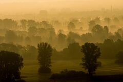 Mist, Dawn, Morning, Atmosphere Royalty Free Stock Image