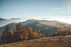 Mist in de bergen Royalty-vrije Stock Afbeelding