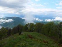 Mist in de bergen Royalty-vrije Stock Fotografie