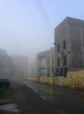 Mist in de stad Royalty-vrije Stock Foto's