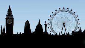 Mist in de stad van Londen Royalty-vrije Stock Foto
