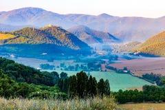 Mist in de valleien royalty-vrije stock fotografie