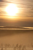 Mist in de zonsondergang Royalty-vrije Stock Afbeelding