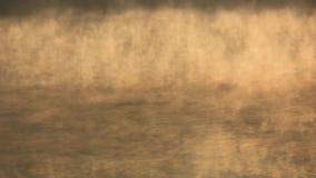 Mist die over waterspiegel van het meer stromen stock footage
