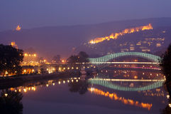 Mist evening in Tbilisi Stock Image
