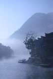The mist floating on the surface of the old city Stock Images