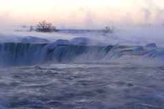 Mist and Fog at Niagara Falls on a Winter Morning Stock Photography