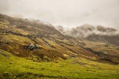 Mist in Glencoe. Glencoe colors in spring, Scotland Royalty Free Stock Photo