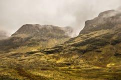 Mist in Glencoe. Glencoe colors in spring, Scotland Royalty Free Stock Photography