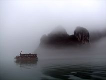 Mist in Halong Royalty Free Stock Photo