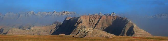 Mist in het Badlands-panorama Royalty-vrije Stock Foto