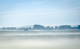 Mist in the hiils Stock Images