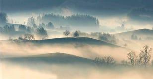 Mist on hills Stock Photo