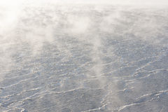 Mist and icy water Royalty Free Stock Photography