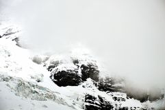 Mist on Jungfrau mountain Royalty Free Stock Photo